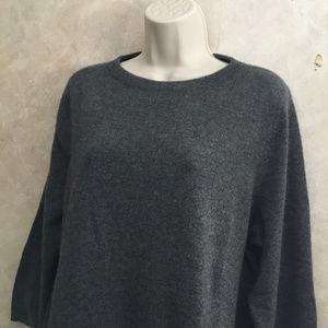 Talbots Woman Size 1X Pure Cashmere Sweater Gray